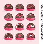 chocolate love in happy...   Shutterstock .eps vector #560254756