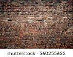 old brick wall. grunge... | Shutterstock . vector #560255632