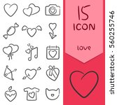 icons love for your favorite... | Shutterstock .eps vector #560255746