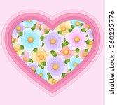 gift heart of flowers | Shutterstock .eps vector #560255776