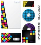 colorful company business set... | Shutterstock .eps vector #56026030