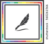 feather writing vector icon.... | Shutterstock .eps vector #560261566