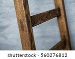 Wooden Ladder Close Up Soft...