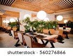asian restaurant interior with ... | Shutterstock . vector #560276866