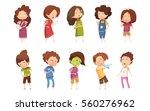 colored sickness child retro... | Shutterstock .eps vector #560276962