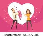 romantic gifts for loving... | Shutterstock .eps vector #560277286