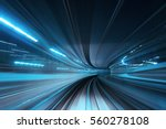 motion blur of train moving... | Shutterstock . vector #560278108