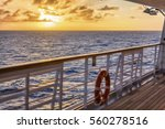caribbean sunset from the... | Shutterstock . vector #560278516