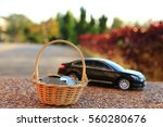 car model and financial... | Shutterstock . vector #560280676