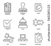 in compliance icon set  ... | Shutterstock .eps vector #560285125