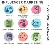 influencer marketing icon set... | Shutterstock .eps vector #560285272
