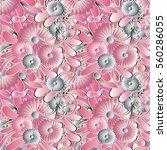 elegance light pink floral... | Shutterstock .eps vector #560286055