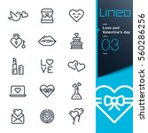 lineo   love and valentine   s... | Shutterstock .eps vector #560286256