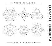 sacred geometry signs. set of... | Shutterstock .eps vector #560307655