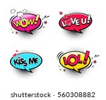 comic speech bubbles set with... | Shutterstock .eps vector #560308882
