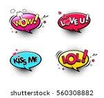 comic speech bubbles set with... | Shutterstock .eps vector #560308882