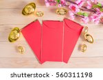 chinese new year decoration on... | Shutterstock . vector #560311198