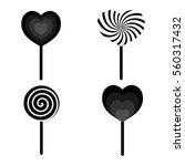 set candy stick icons ...