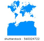 blue map of continents with... | Shutterstock .eps vector #560324722