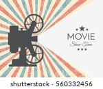 cinema retro background or... | Shutterstock .eps vector #560332456