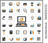 set of office icons. contains... | Shutterstock .eps vector #560333152