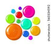 set of glossy nail polish blots ... | Shutterstock .eps vector #560334592