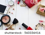 cosmetics and female subjects | Shutterstock . vector #560336416