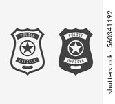 police badge monochrome icon.... | Shutterstock .eps vector #560341192