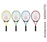 tennis rackets | Shutterstock .eps vector #560342752