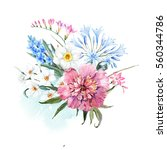 Watercolor Illustration Spring...
