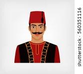 turkish man in national suit....   Shutterstock . vector #560351116