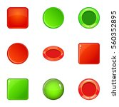 round and square button icons...