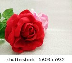 Artificial Red And Pink Rose...