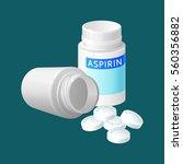 aspirin pill bottle vector... | Shutterstock .eps vector #560356882