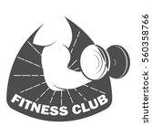 fitness club logo design... | Shutterstock .eps vector #560358766