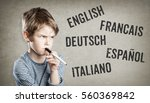 five language  english  french  ... | Shutterstock . vector #560369842