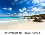 panoramic view of exotic beach | Shutterstock . vector #560372416