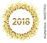 golden splash or glittering... | Shutterstock .eps vector #560377012