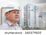 industrial collage with charts | Shutterstock . vector #560379835