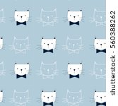 cat pattern  vector... | Shutterstock .eps vector #560388262