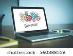 gears and revenue mechanism on... | Shutterstock . vector #560388526
