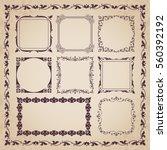 decorative calligraphic frames  ... | Shutterstock .eps vector #560392192