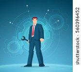 business concept illustration.... | Shutterstock .eps vector #560396452