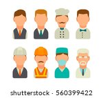 set icon character cook ... | Shutterstock .eps vector #560399422
