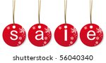 christmas price tags | Shutterstock .eps vector #56040340