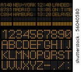 airport timetable board...   Shutterstock .eps vector #56040580