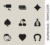 set of 9 editable gambling...