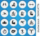 set of 16 lifestyle icons....