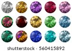 set of fifteen multi colored... | Shutterstock . vector #560415892