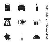 set of 9 restaurant icons....